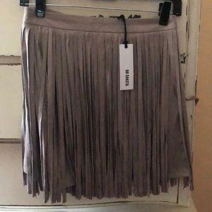 COPY - BB Dakota Size 2 Gray/tan Suede Fringe Ski…